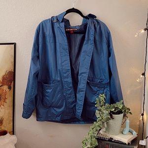 Vintage Blue Rain jacket